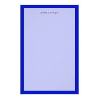 Solid Color: Royal Blue Custom Stationery