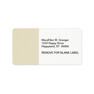 Solid Color: Sand Beige Label