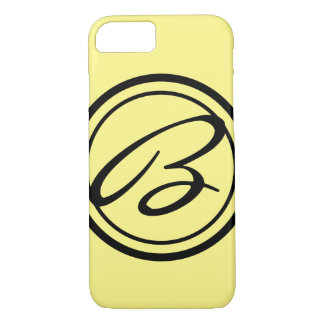 Solid Color with Monogram iPhone 7 Case