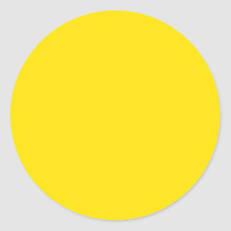 Solid Color: Yellow Classic Round Sticker