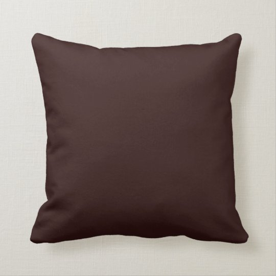 Solid Colour Chocolate Brown 330000 Pillow