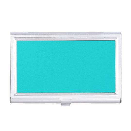 Solid Colour Dark Turquoise Business Card Holder