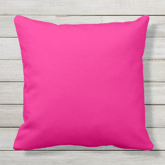 solid colour hot pink throw pillow
