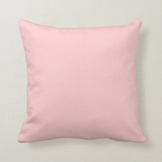 solid colour pink ffcccc pillow template zazzle ca