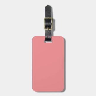 Solid Coral Pink Pop of Color Bag Tag