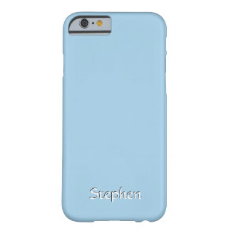 Solid Cornflower Blue Personalized Barely There iPhone 6 Case