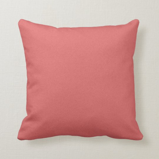 SOLID DARK CORAL COLOR BACKGROUND WALLPAPER TEXTUR THROW PILLOW
