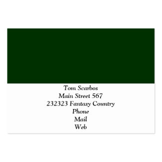 Solid DARK GREEN Business Card Templates