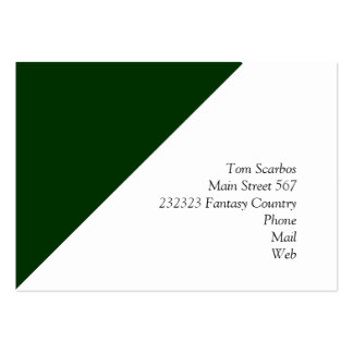 Solid DARK GREEN Business Card Template