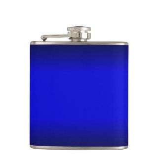 Solid Electric Blue http://www.zazzle.com/solid_el Hip Flask