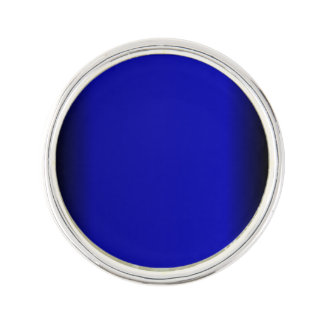 Solid Electric Blue Lapel Pin