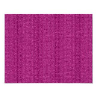 Solid Fuchsia Knit Stockinette Stitch Pattern Art Photo