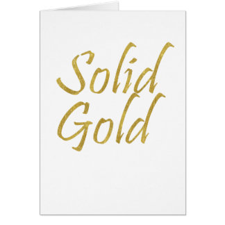 Solid Gold Card