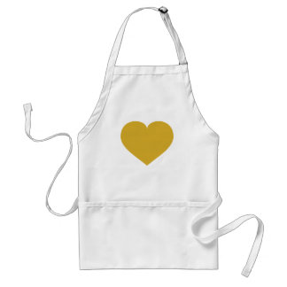 Solid gold heart standard apron
