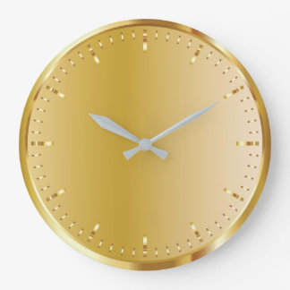 Solid Gold Large Clock