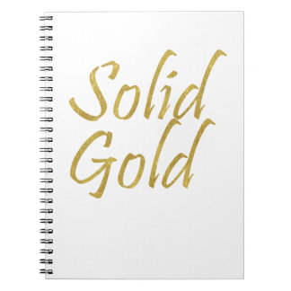 Solid Gold Notebooks