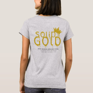 SOLID GOLD: Official Logo on Women's Grey T-Shirt