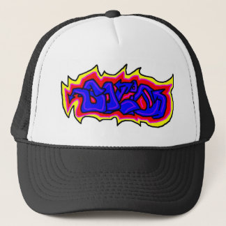 Solid graffiti trucker hat