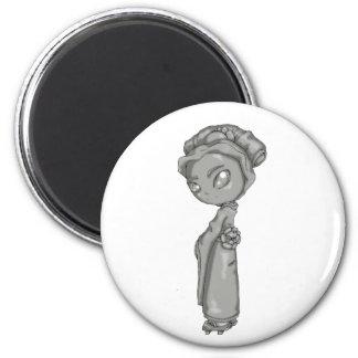 Solid Grey Geisha Magnet
