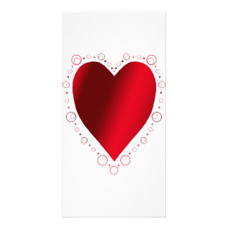 Solid Heart Picture Card