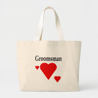 Solid Hearts Groomsman Jumbo Tote Bag