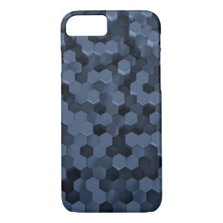 Solid Honeycombs Blue iPhone 8/7 Case