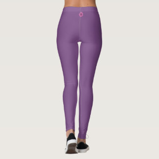 Solid Lavender with small decal on back of Leggings