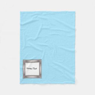 solid light blue fleece blanket