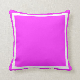 Solid Light Bright purple pink pillow