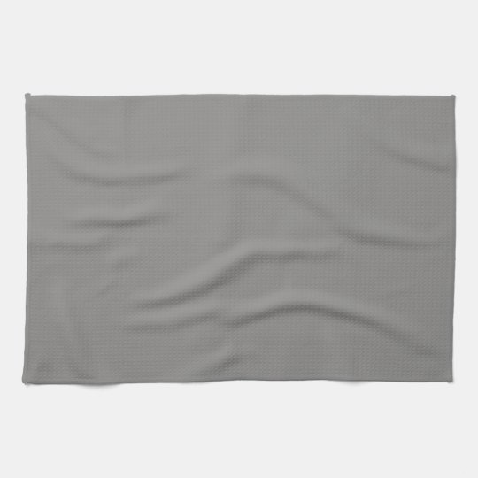 Solid Light Grey Kitchen Towel
