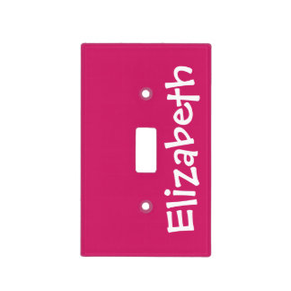 Solid Magenta Pink Color with Custom Name Light Switch Cover