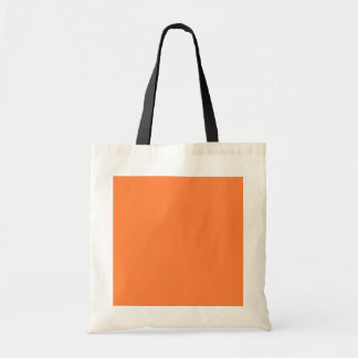 Solid Mango Orange Color Decor ready to customize Tote Bag