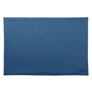 Solid Monaco Blue Table Mat Place Mat