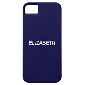 Solid Navy Blue Blue Background, Name Monogram Case For The iPhone 5