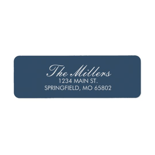 Solid Navy Return Address Labels