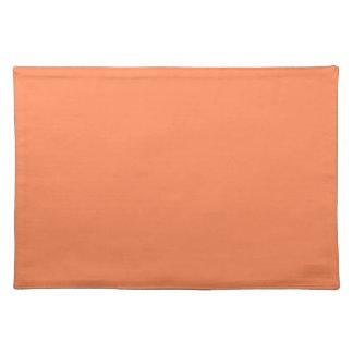 Solid Nectarine Orange Table Mat Placemat
