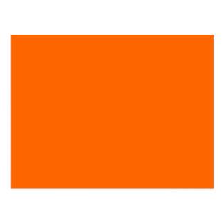 Solid Orange Background Color FF6600 Postcard