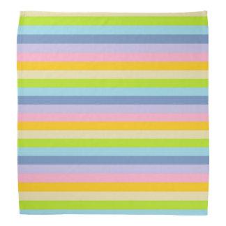 Solid Pastel Rainbow Stripes Bandana