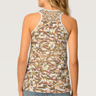Solid, patterned, taupe, rust, gold, tank