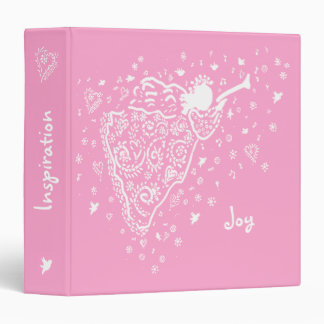 solid pink angel binder