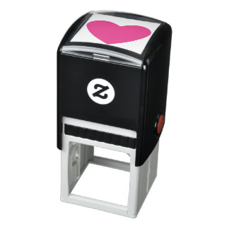 Solid Pink Heart Self-inking Stamp