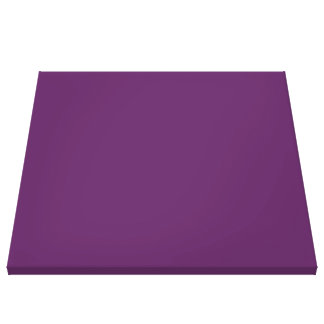 solid PLUM Canvas Print