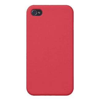 Solid Poppy Red iPhone 4/4S Case