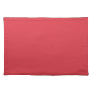Solid Poppy Red Table Mat Placemats