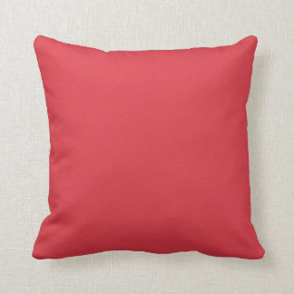 Solid Poppy Red Throw Pillows