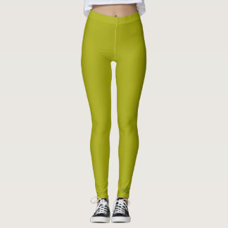 SOLID PUKE GREEN LEGGINGS HAVIC ACD