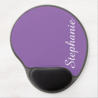 Solid Purple Gel Mousepad, Personalized Gel Mouse Pad
