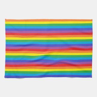 Solid Rainbow Stripes Kitchen Towel