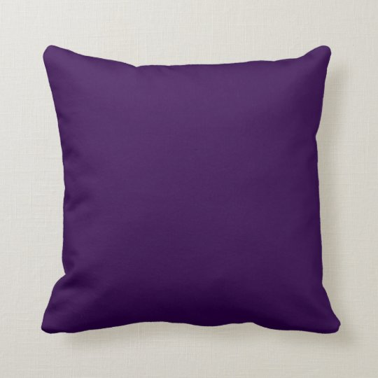 Solid Royal Purple Pop of Colour Throw Pillow