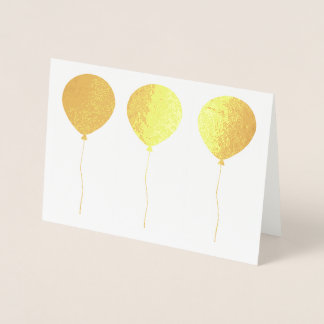 Solid Shaped Balloons in a Row Foil Card